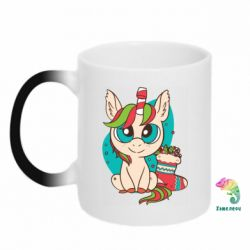 Кружка-хамелеон Unicorn Christmas