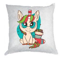 Подушка Unicorn Christmas