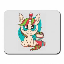 Коврик для мыши Unicorn Christmas