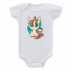 Детский бодик Unicorn Christmas