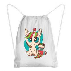 Рюкзак-мешок Unicorn Christmas