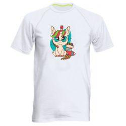 Мужская спортивная футболка Unicorn Christmas