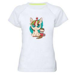 Женская спортивная футболка Unicorn Christmas