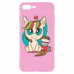 Чехол для iPhone 7 Plus Unicorn Christmas