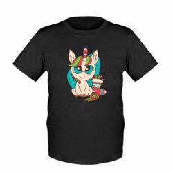 Детская футболка Unicorn Christmas