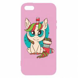 Чехол для iPhone5/5S/SE Unicorn Christmas