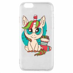Чехол для iPhone 6/6S Unicorn Christmas
