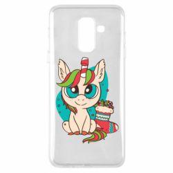 Чехол для Samsung A6+ 2018 Unicorn Christmas