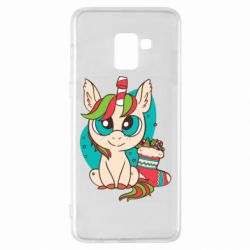 Чехол для Samsung A8+ 2018 Unicorn Christmas