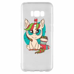Чехол для Samsung S8+ Unicorn Christmas