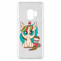 Чехол для Samsung S9 Unicorn Christmas