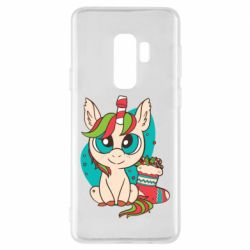 Чехол для Samsung S9+ Unicorn Christmas