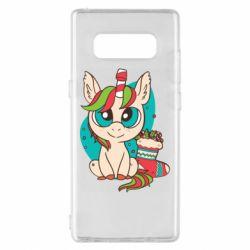 Чехол для Samsung Note 8 Unicorn Christmas