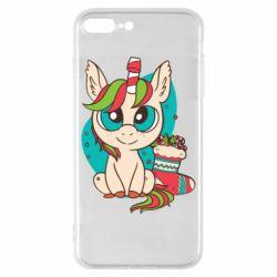 Чехол для iPhone 8 Plus Unicorn Christmas