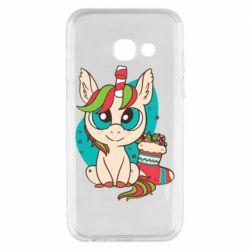 Чехол для Samsung A3 2017 Unicorn Christmas