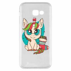Чехол для Samsung A5 2017 Unicorn Christmas