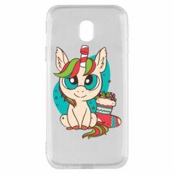 Чехол для Samsung J3 2017 Unicorn Christmas