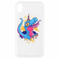 Чехол для iPhone XR Unicorn dinosaur