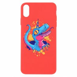 Чехол для iPhone Xs Max Unicorn dinosaur