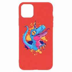 Чехол для iPhone 11 Unicorn dinosaur