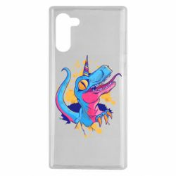 Чехол для Samsung Note 10 Unicorn dinosaur