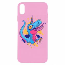 Чехол для iPhone X/Xs Unicorn dinosaur
