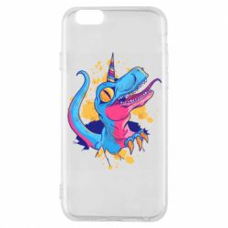 Чехол для iPhone 6/6S Unicorn dinosaur