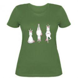 Жіноча футболка Unicorn in yoga