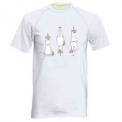 Чоловіча спортивна футболка Unicorn in yoga