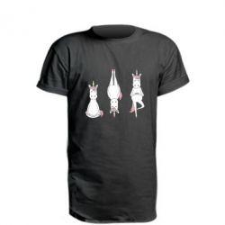 Подовжена футболка Unicorn in yoga