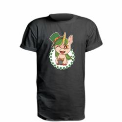 Удлиненная футболка Unicorn patrick day