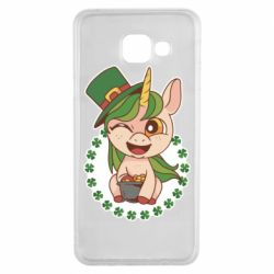 Чехол для Samsung A3 2016 Unicorn patrick day