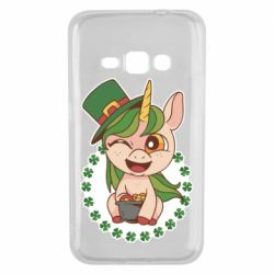 Чехол для Samsung J1 2016 Unicorn patrick day
