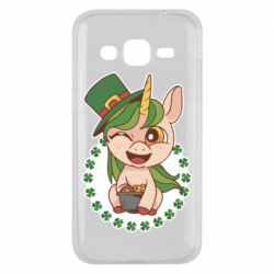 Чехол для Samsung J2 2015 Unicorn patrick day