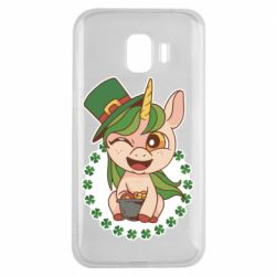 Чехол для Samsung J2 2018 Unicorn patrick day