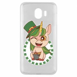 Чехол для Samsung J4 Unicorn patrick day