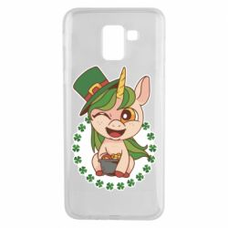 Чехол для Samsung J6 Unicorn patrick day