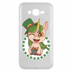 Чехол для Samsung J7 2015 Unicorn patrick day