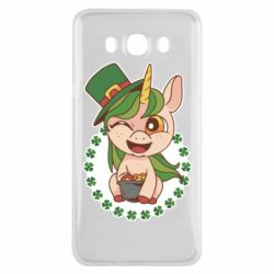 Чехол для Samsung J7 2016 Unicorn patrick day