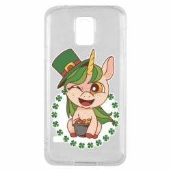 Чехол для Samsung S5 Unicorn patrick day