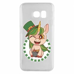 Чехол для Samsung S6 EDGE Unicorn patrick day