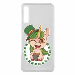 Чехол для Samsung A7 2018 Unicorn patrick day
