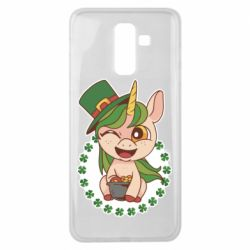 Чехол для Samsung J8 2018 Unicorn patrick day