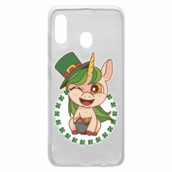 Чехол для Samsung A20 Unicorn patrick day