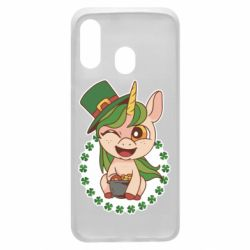 Чехол для Samsung A40 Unicorn patrick day