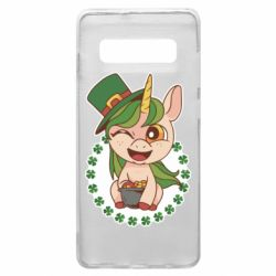 Чехол для Samsung S10+ Unicorn patrick day