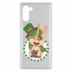 Чехол для Samsung Note 10 Unicorn patrick day