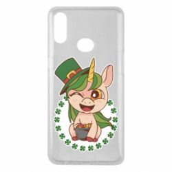 Чехол для Samsung A10s Unicorn patrick day