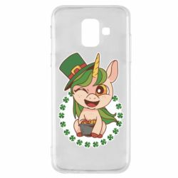 Чехол для Samsung A6 2018 Unicorn patrick day