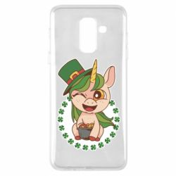 Чехол для Samsung A6+ 2018 Unicorn patrick day